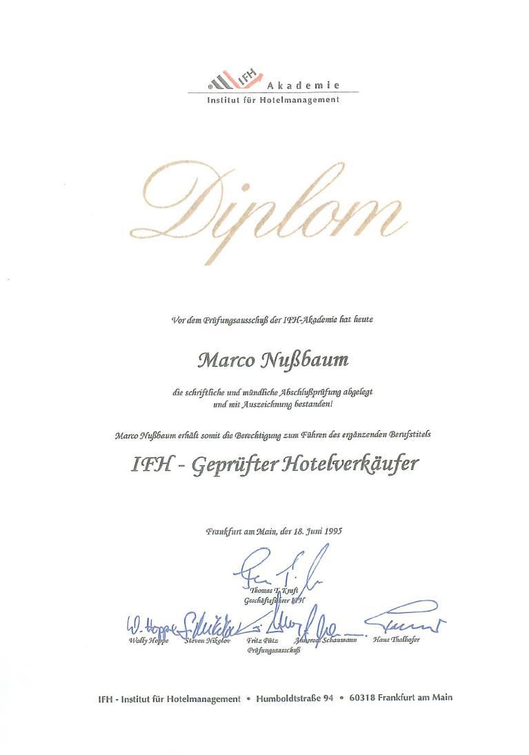 Marco Nussbaum - Diplom