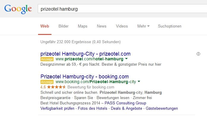 Brand hijacking booking.com